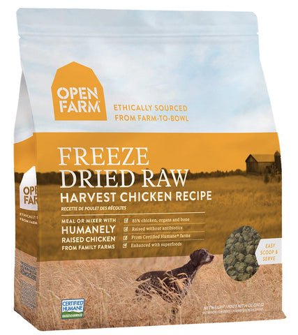 Open Farm Freeze-Dried Harvest Chicken Dog Food