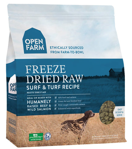 Open Farm Freeze-Dried Raw Surf & Turf Dog Food