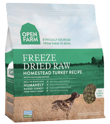 Open Farm Freeze-Dried Raw Homestead Turkey Dog Food