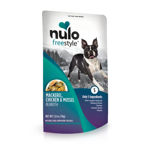 Nulo FreeStyle Dog Pouch Mackerel, Chicken, & Mussel Dog Food