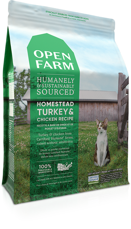 Open Farm Homestead Turkey & Chicken Dry Cat Food