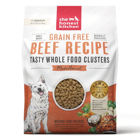 The Honest Kitchen Grain-Free Beef Whole Food Clusters Dog Food