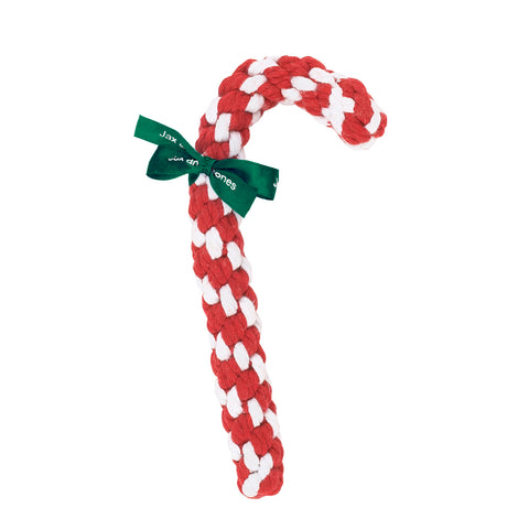 Jax & Bones Red & White Candy Cane Rope Dog Toy