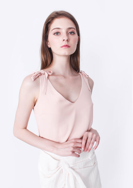 Solstice Tie Shoulder Top (Pink Blush)