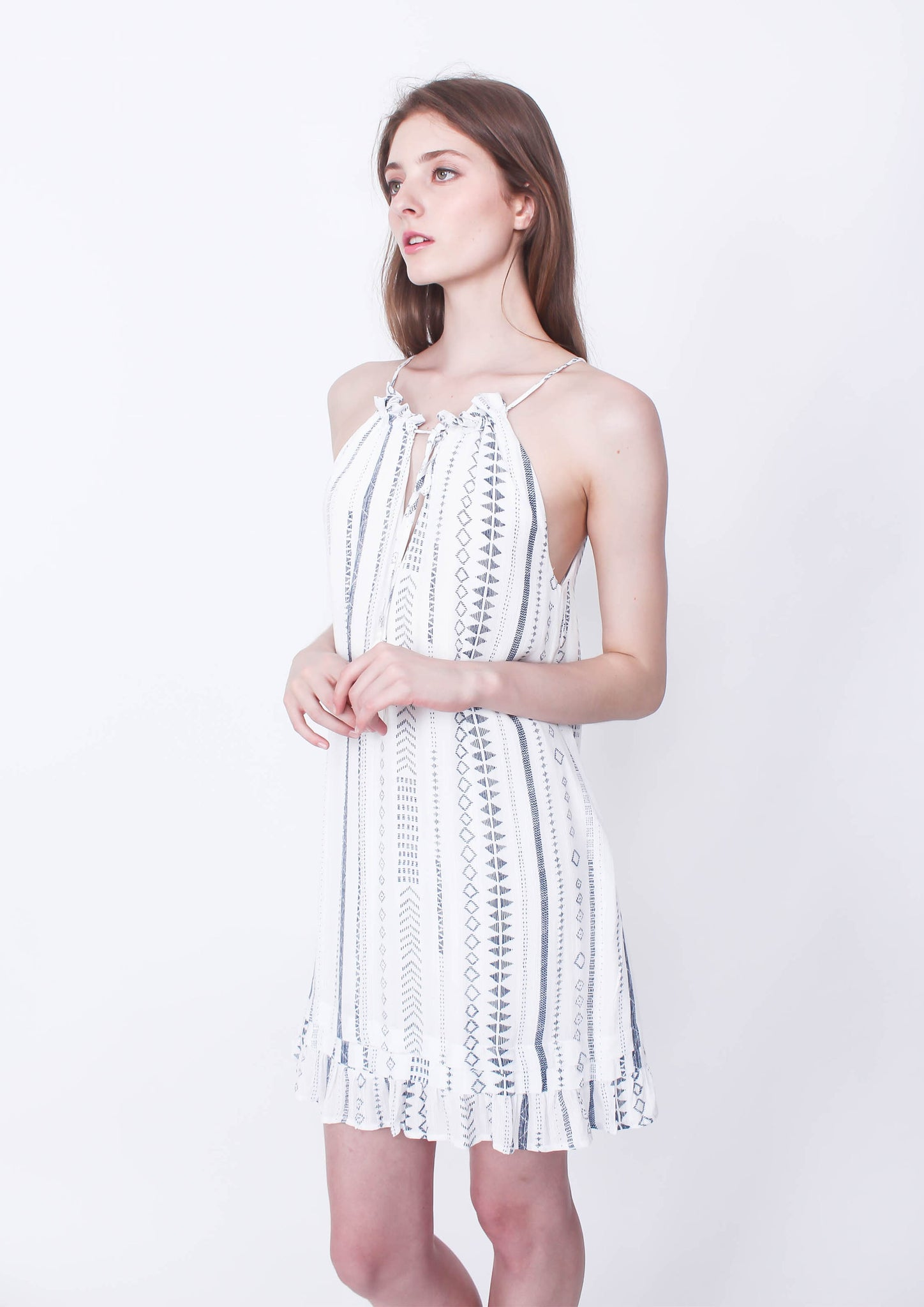 Less Travelled Halter Dress