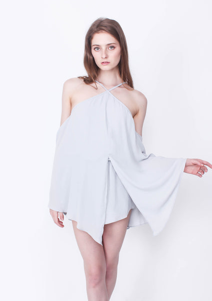 Private Show Playsuit (Blue) - Moxie