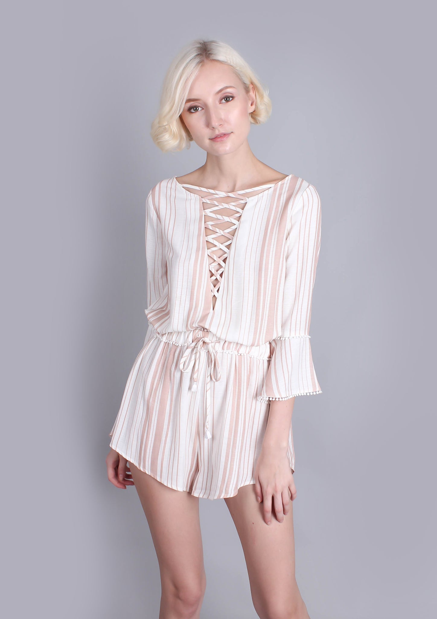 Disappear Playsuit (Beige) - Moxie