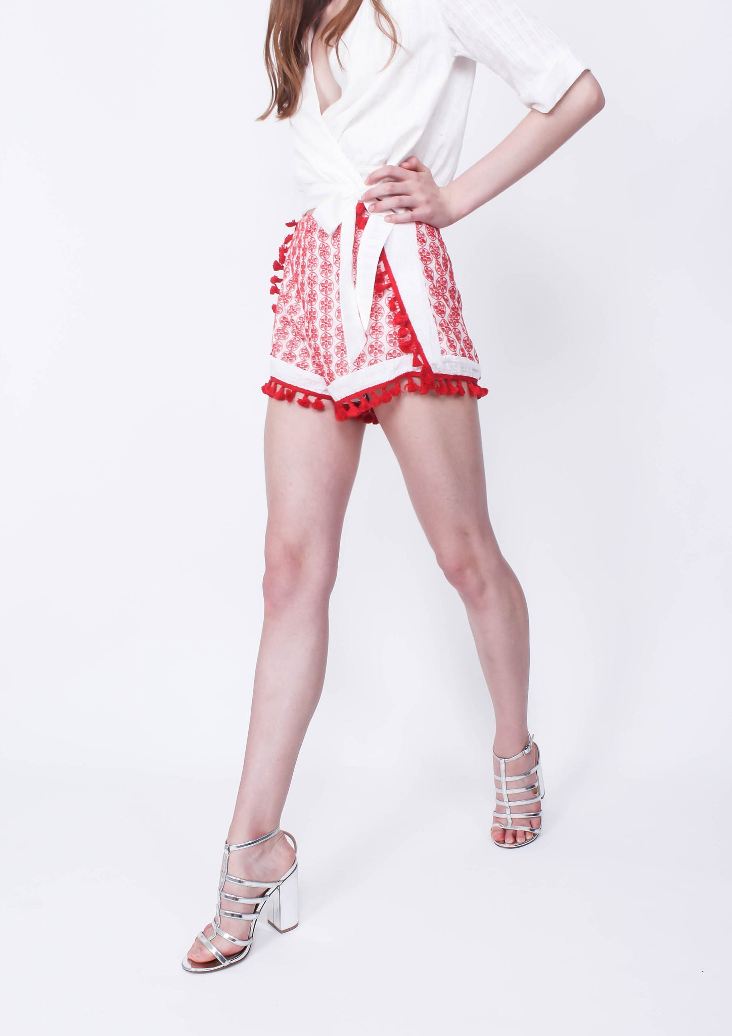 Cherry Bomb Shorts (Red) - Moxie
