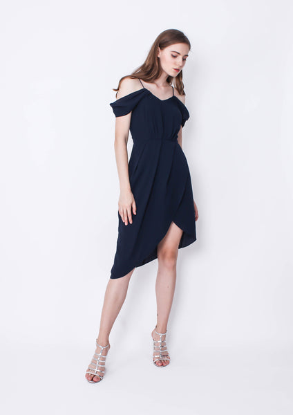 Private Show Midi Dress (Navy)