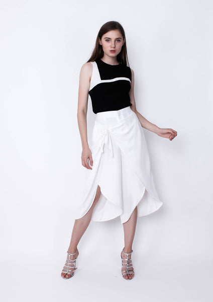 Slit-Front Culotte (White)