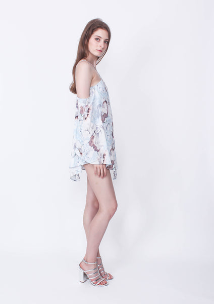 Private Show Playsuit (Ivory Print)
