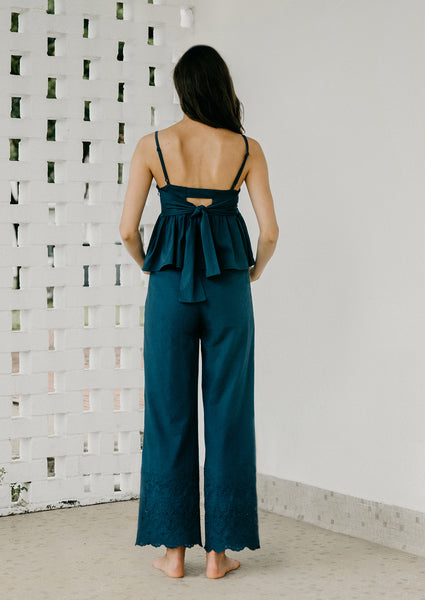 The Climb Eyelet Pants (Navy)