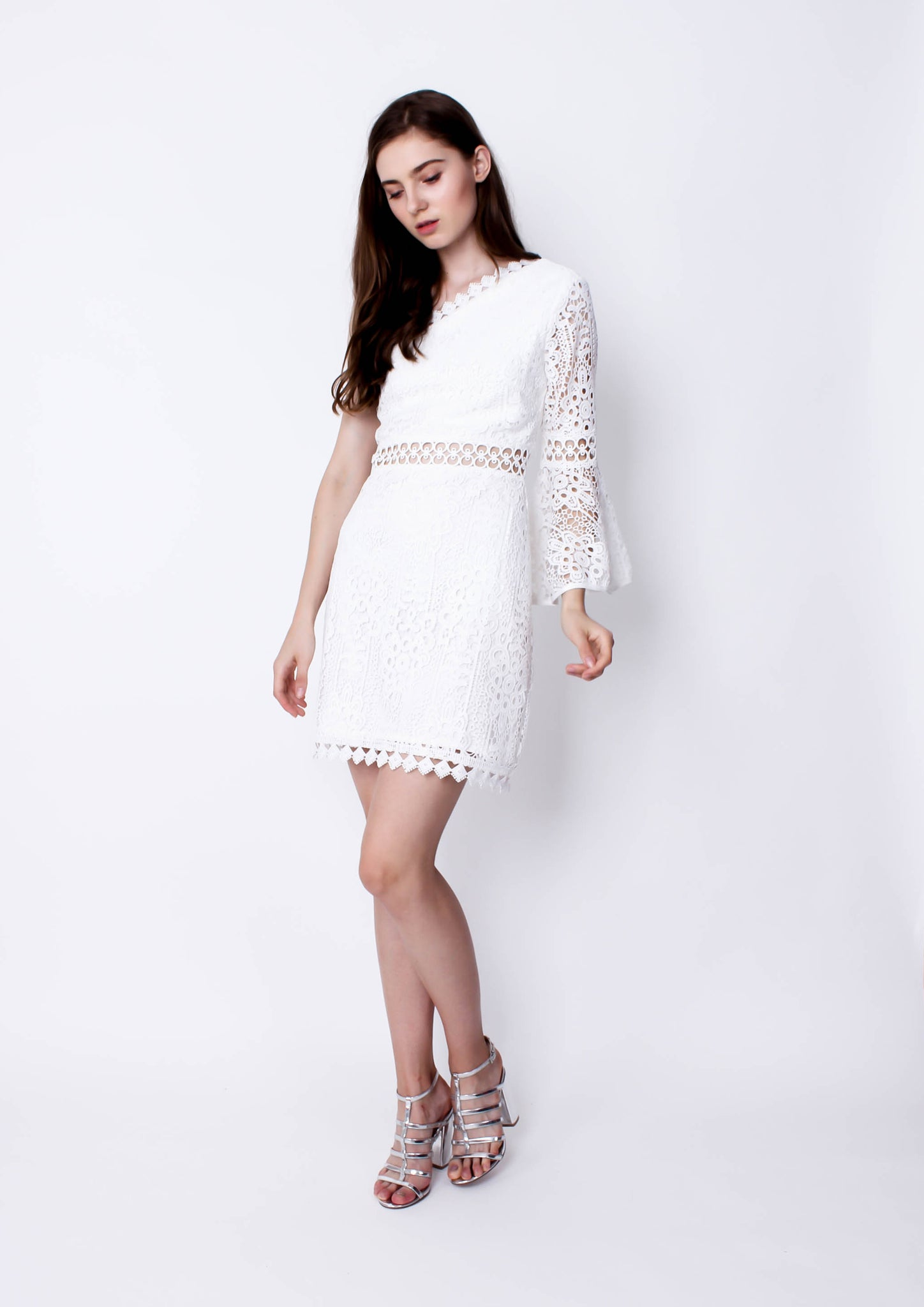Elysian Dress (White) - Moxie