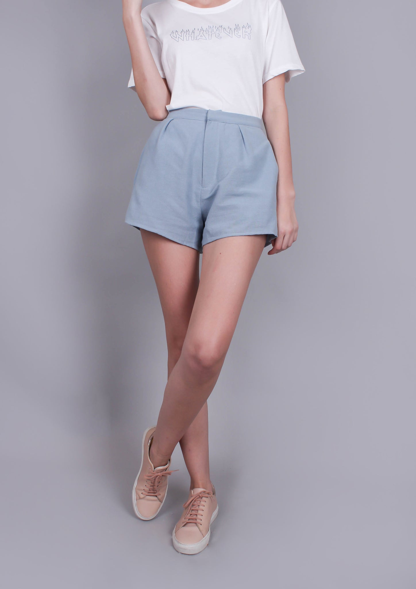 'Sky High' High Waisted Shorts - Moxie