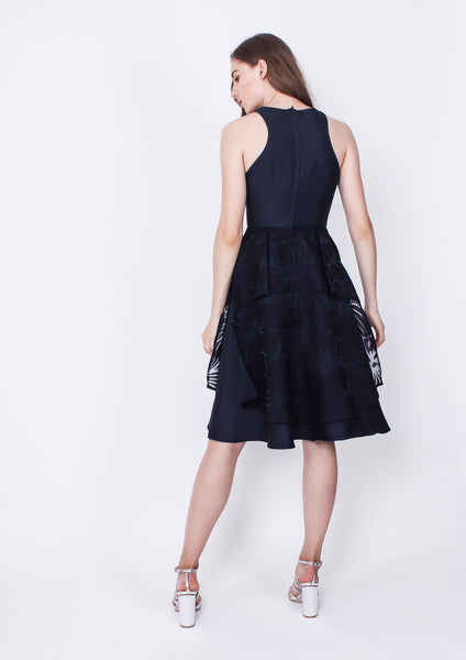 Goldmine Dress (Navy) - Moxie