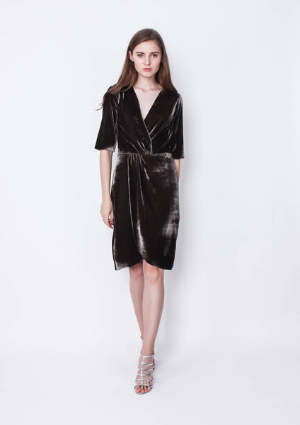Orlov X Naomi Dress (Greyish Green) - Moxie