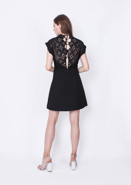 Bowerbird Dress (Black) - Moxie