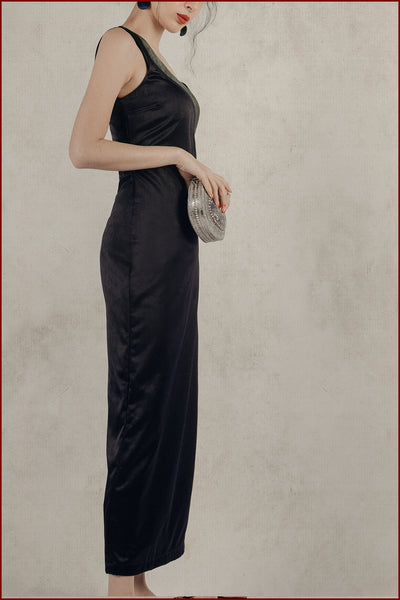 Astrea Slit Dress (Navy)