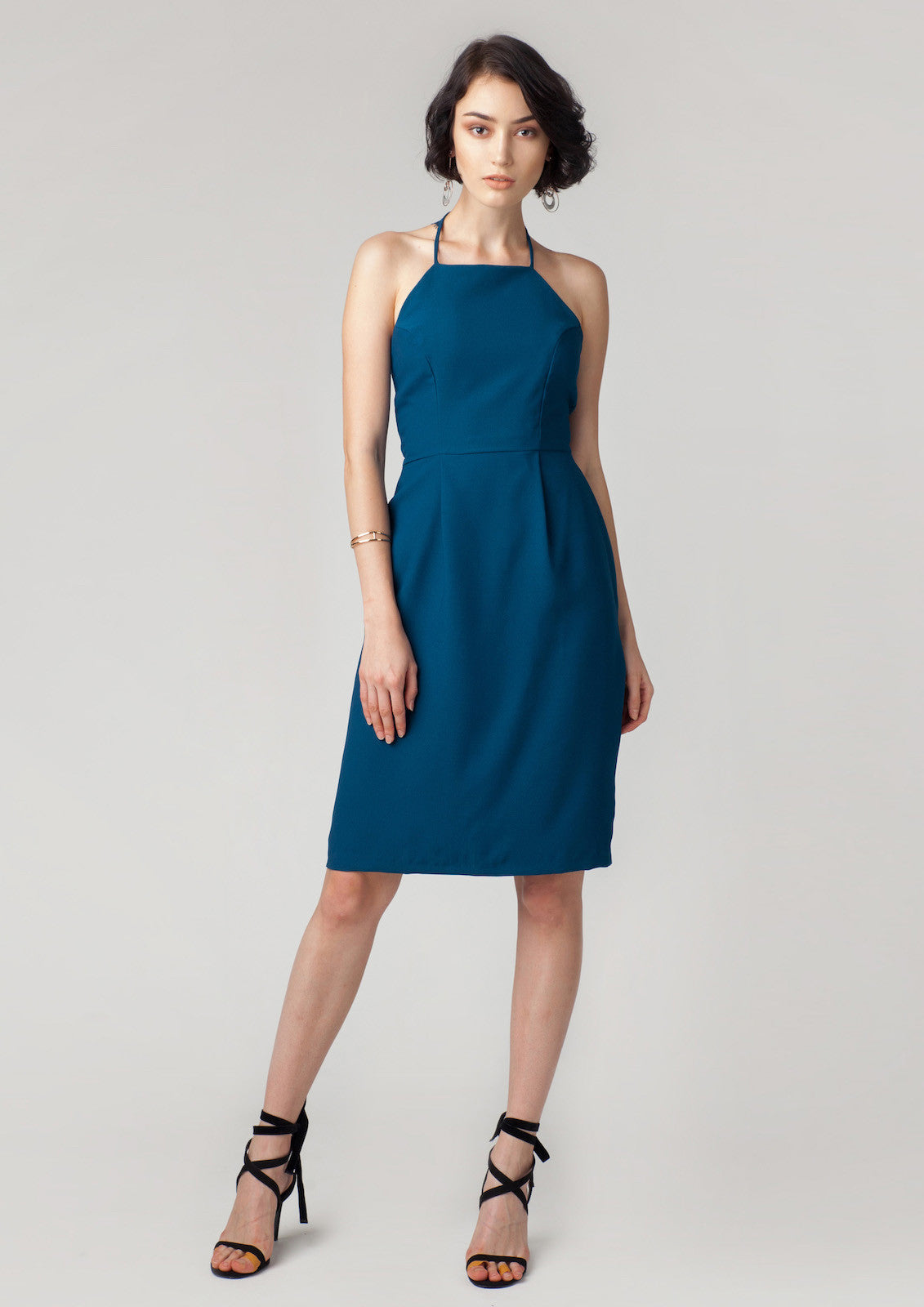 Aubrey Lace Back Dress (Teal)