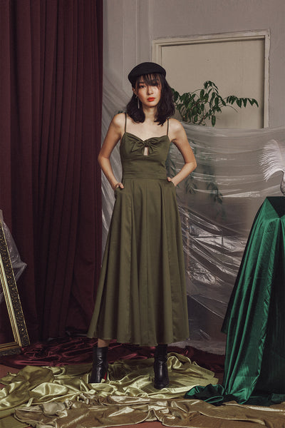 Aurae Swing Dress (Olive)