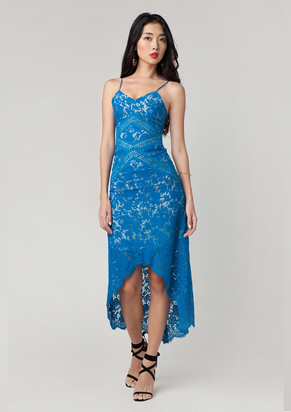 Alexandra Lace Cami Dress (Azure Blue)
