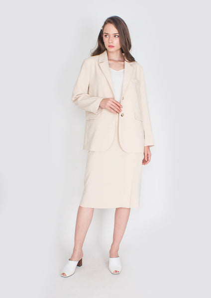 Hepburn Structured Blazer (Cream)