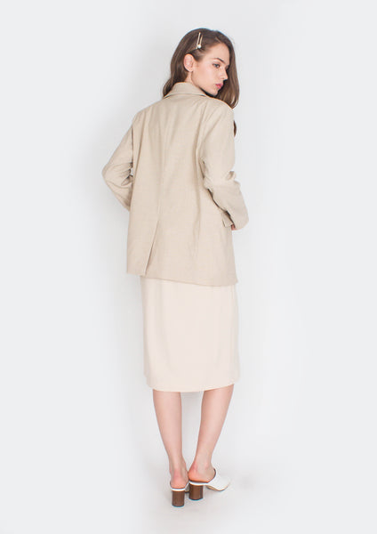 Hepburn Structured Blazer (Checkered) - Moxie