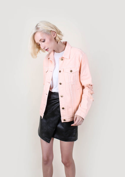 Vo Vo Trashed Denim Jacket - Moxie