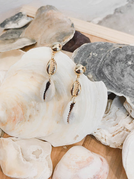 Seashell Danging Earrings - Moxie