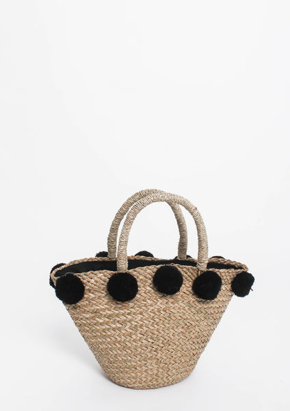 Katie Pom Pom Bag (Black)