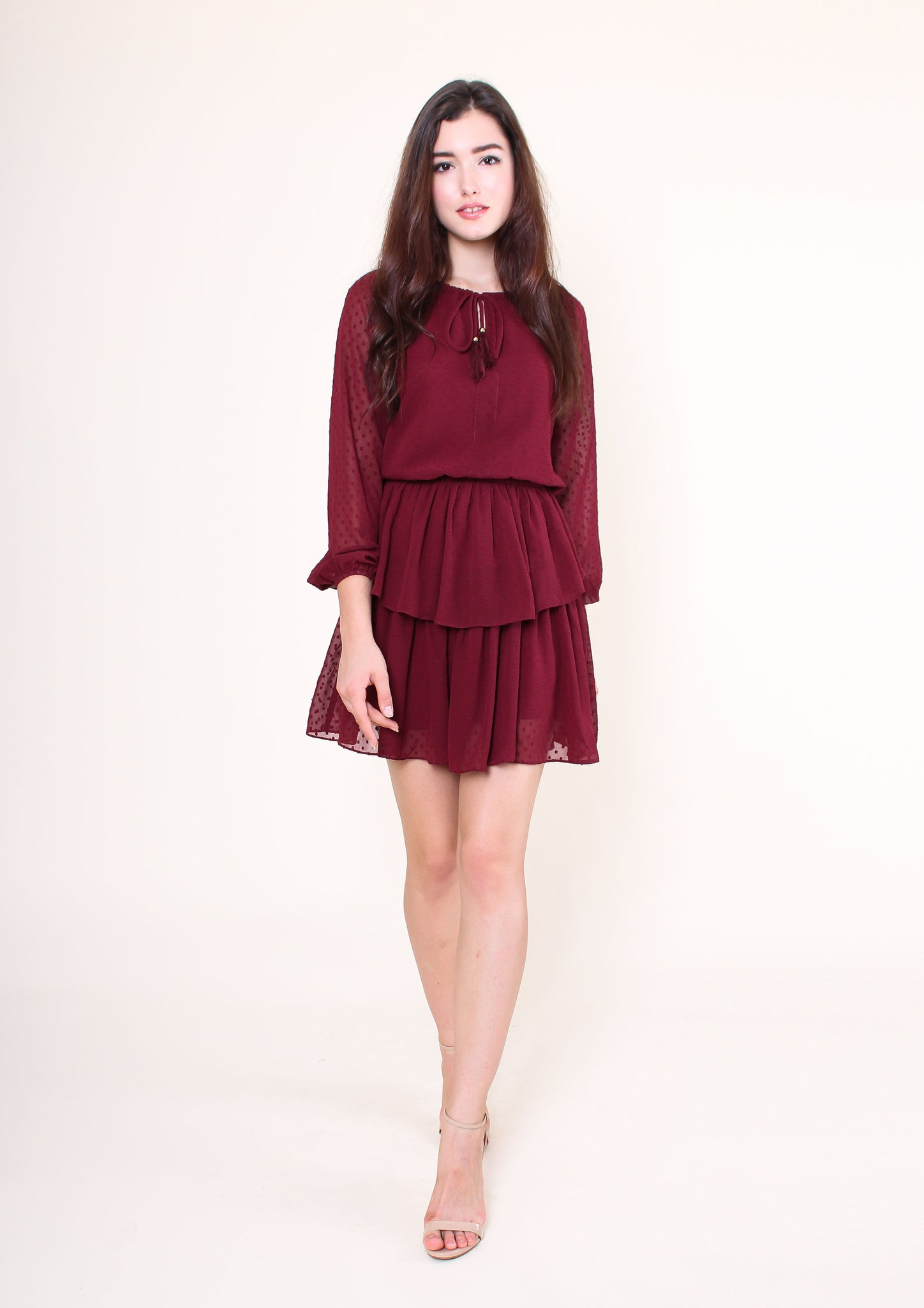 Keona Dress (Maroon)