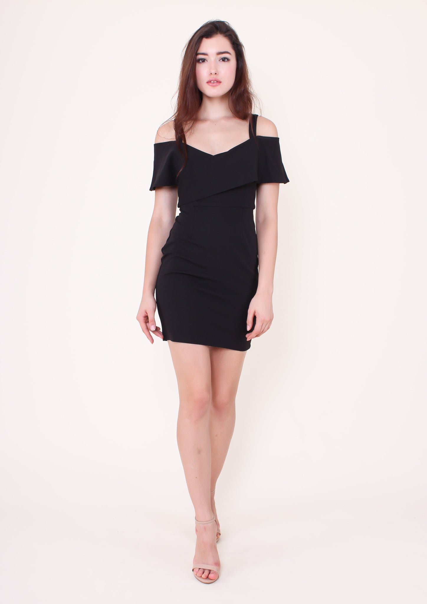 Suspended Dress (Black) - Moxie