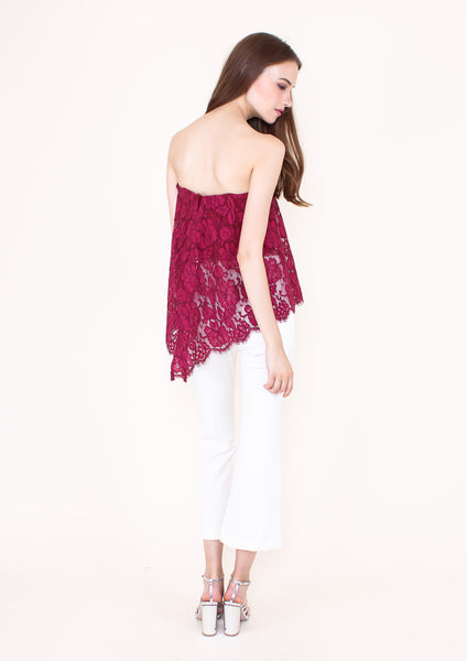 Blossom Lace Bustier Butterfly Top (Magenta)