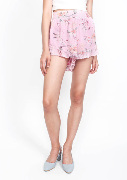 Summer Meadow Flounce Shorts (Floral)