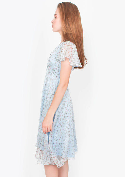 Voyage Midi Dress (Sky Blue) - Moxie