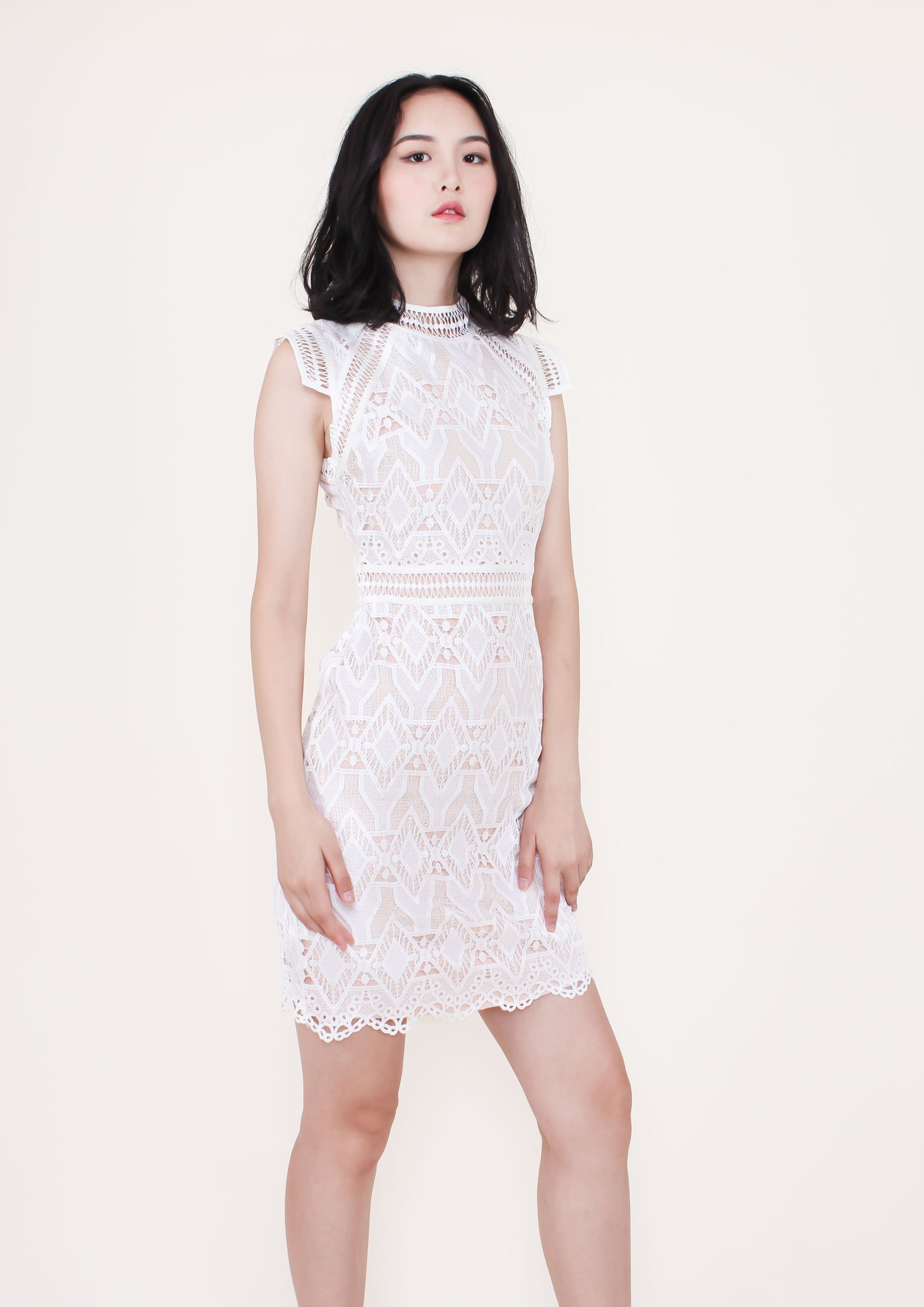 Maison Lace Dress (White)