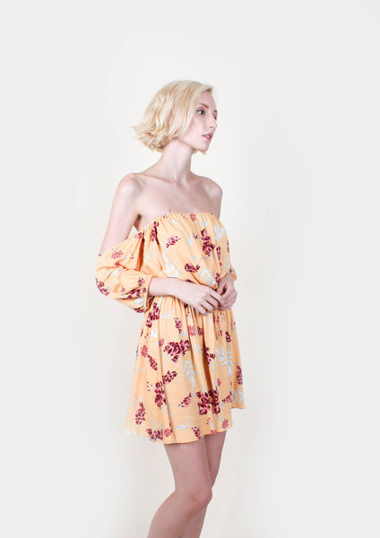Saffron Off Shoulder Dress - Moxie