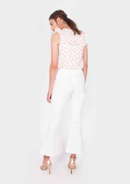Hope Bell Pants (White) - Moxie