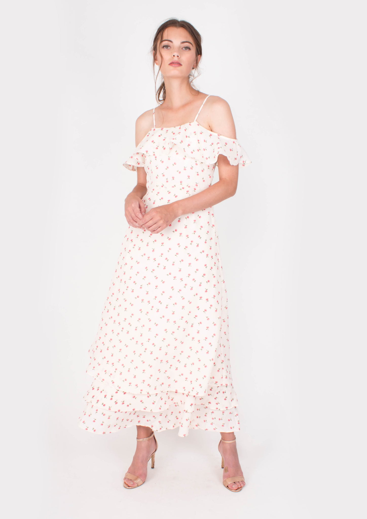 Credence Maxi Dress (White) - Moxie