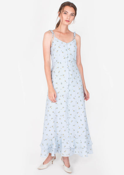 Aspire Maxi Dress (Blue) - Moxie