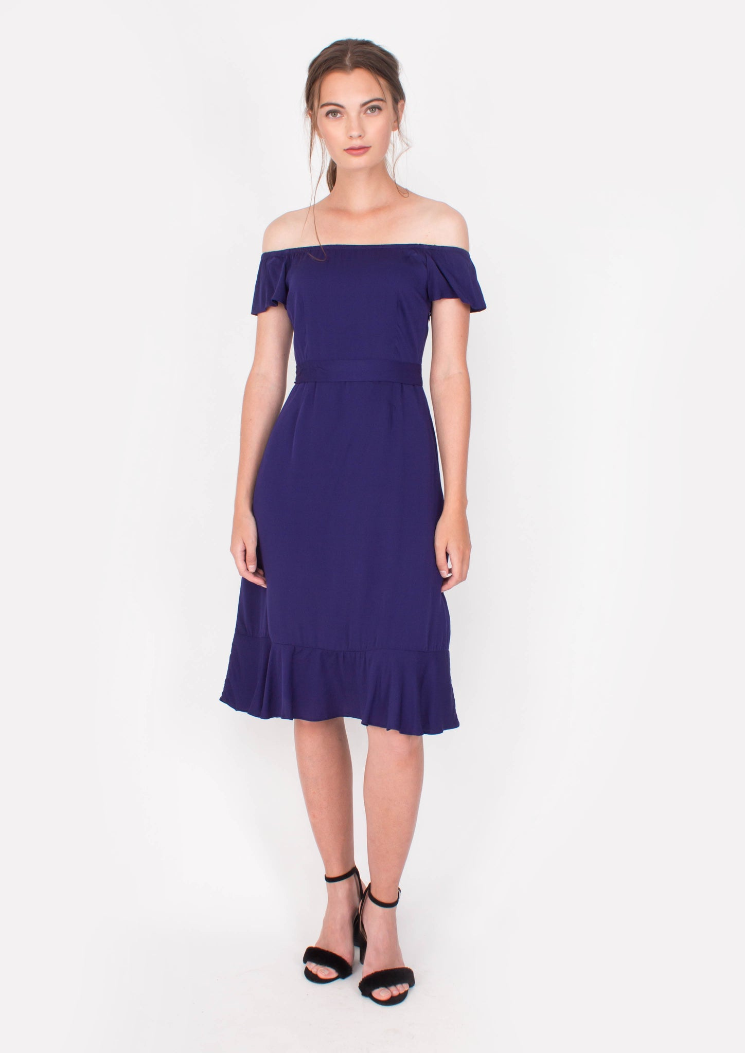 Lucent Midi Dress (Midnight Blue) - Moxie