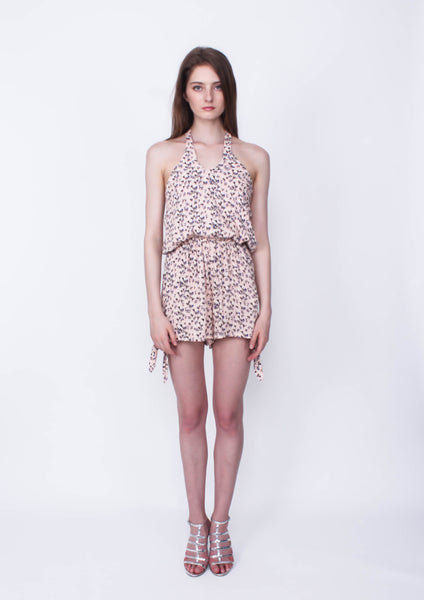 Wishes Halter Playsuit - Moxie