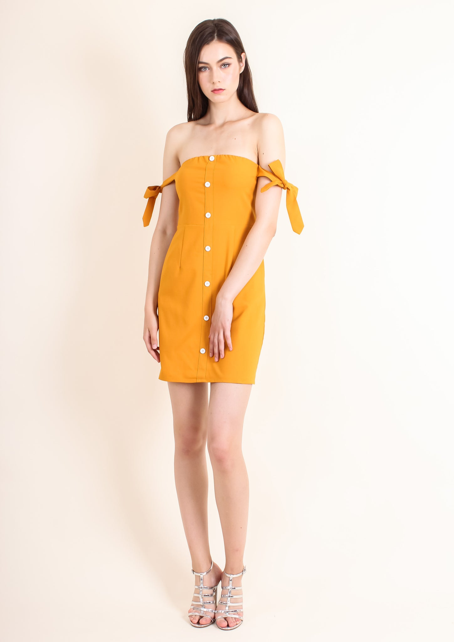 Savannah Dress (Mustard) - Moxie