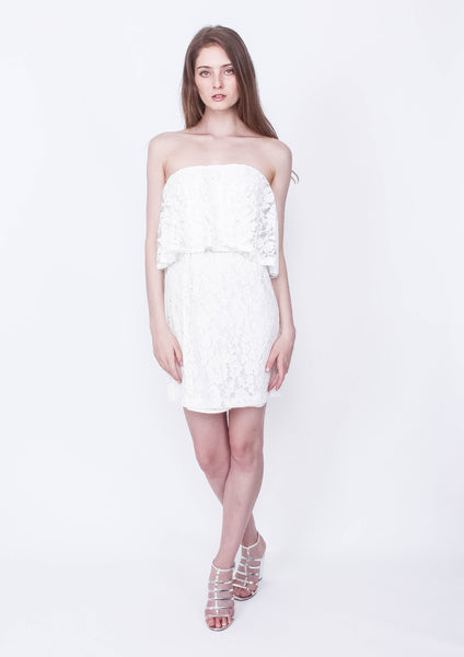 Kindness Lace Strapless Dress - Moxie