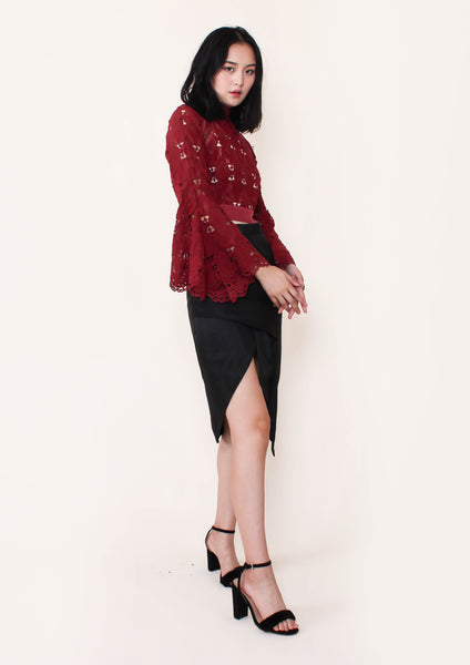 London Lace Top (Rust) - Moxie