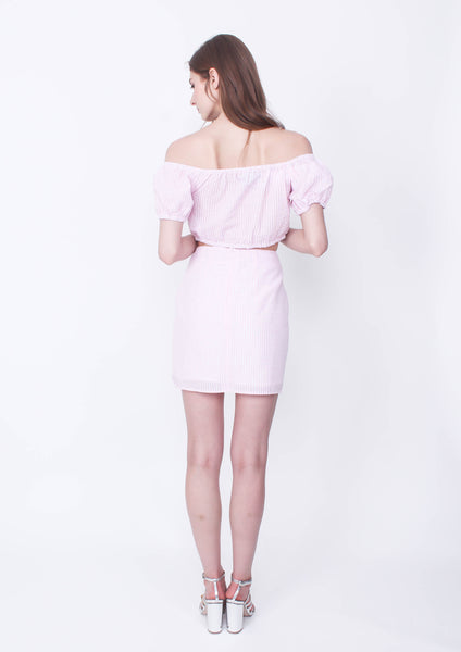 Gables Skirt (Pink/White)