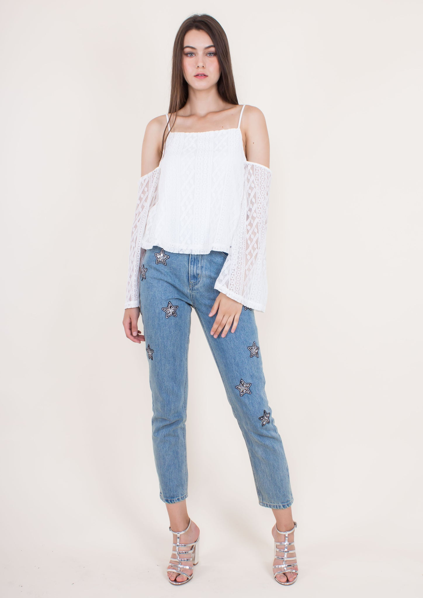 Nina Off-shoulder Top (White)