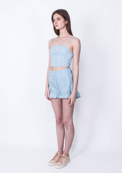 Toto Gingham Chambray Shorts