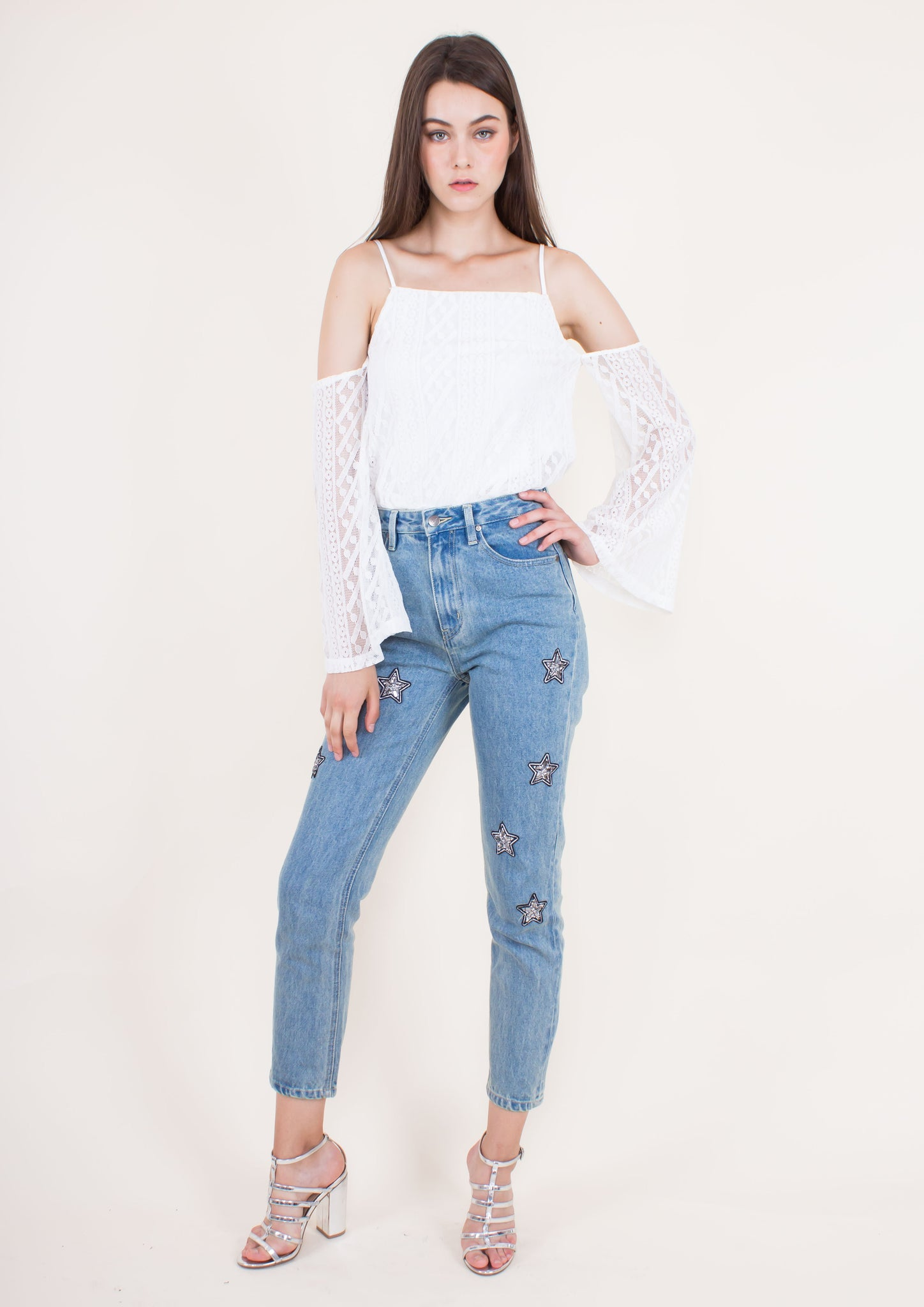 Cosmos Crystal Patch Scando Jeans