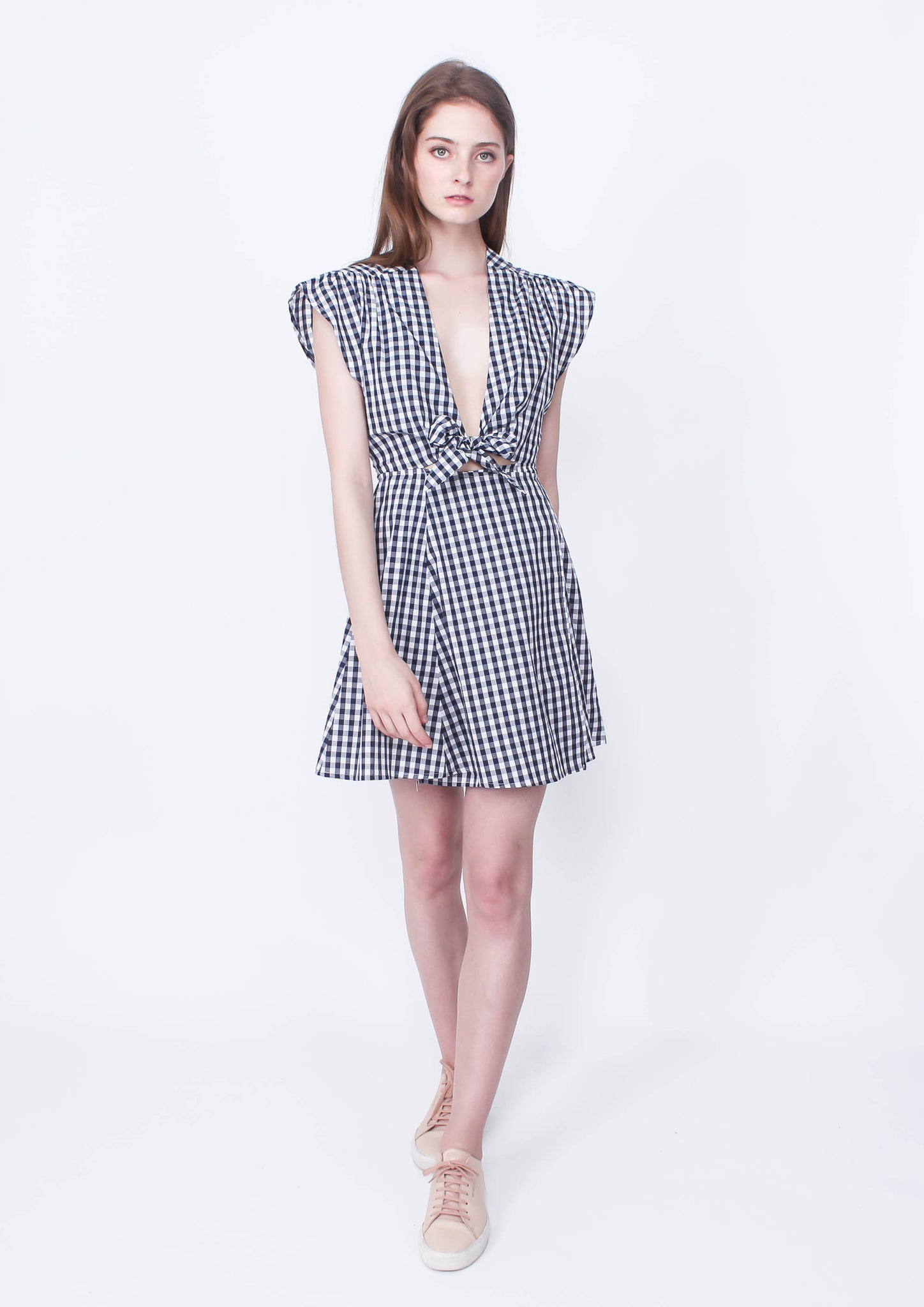 Locals only Gingham Dress (Wrap Front)